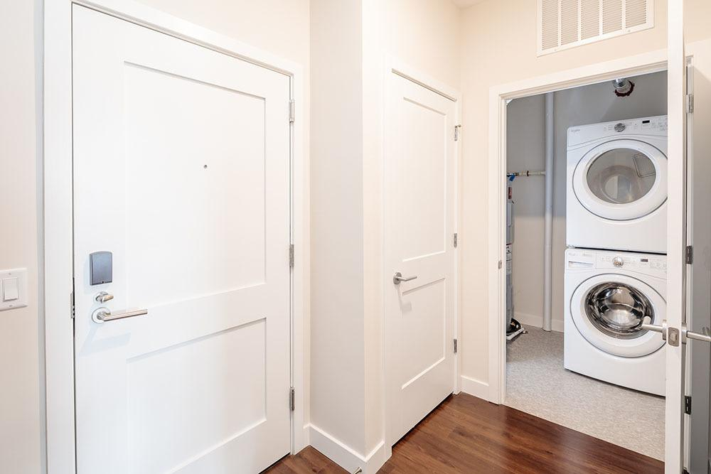 Closet and laundry room in our Canandaigua, NY apartments