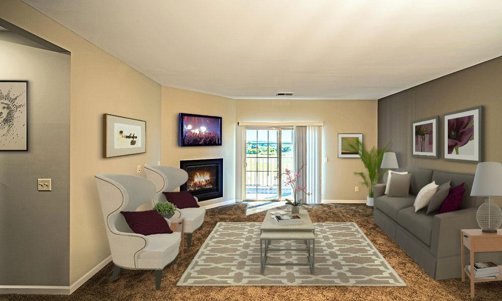 Large spacious living room in Canonsburg, PA