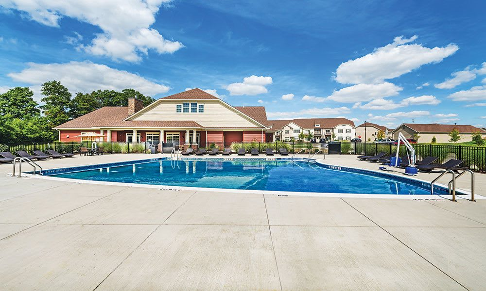 Pool at apartments in Canonsburg
