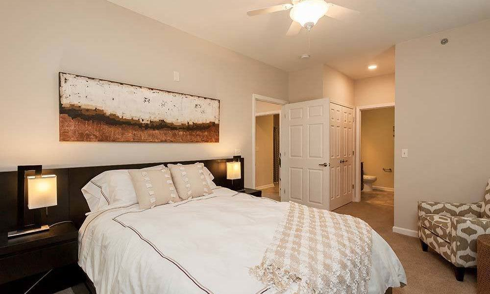 Comfortable bedroom in our Canonsburg, PA apartments