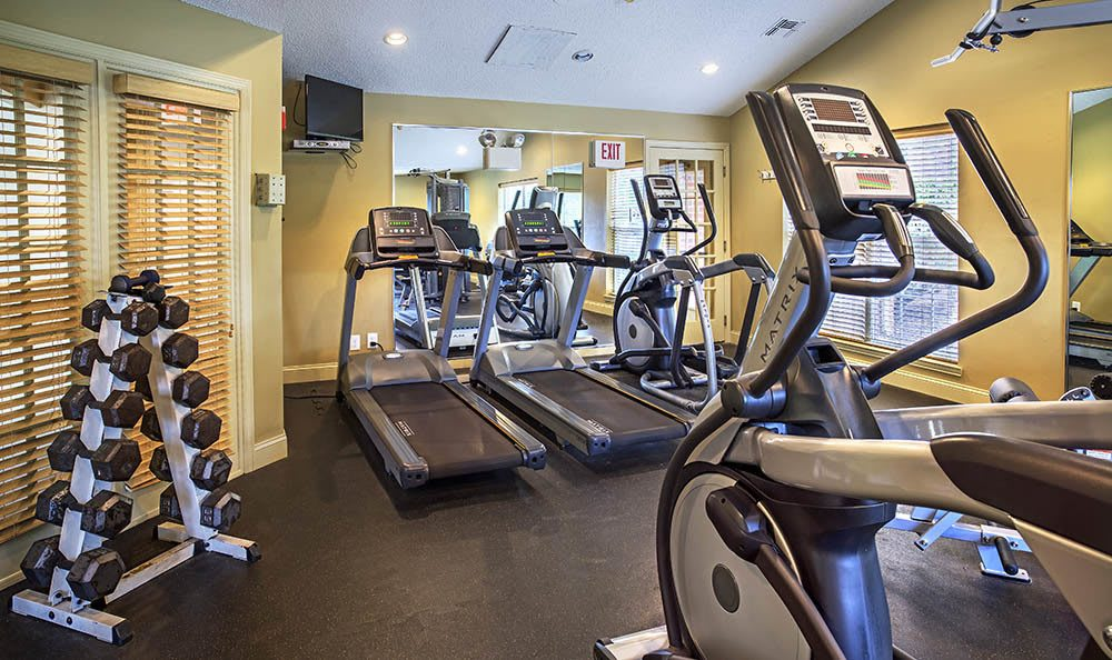 Fitness center at apartments in Pittsburgh