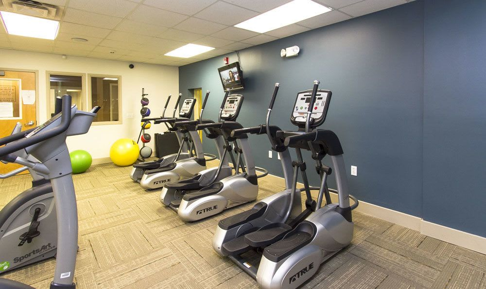 Stay healthy in our well equipped fitness center at Paradise Lane Apartments