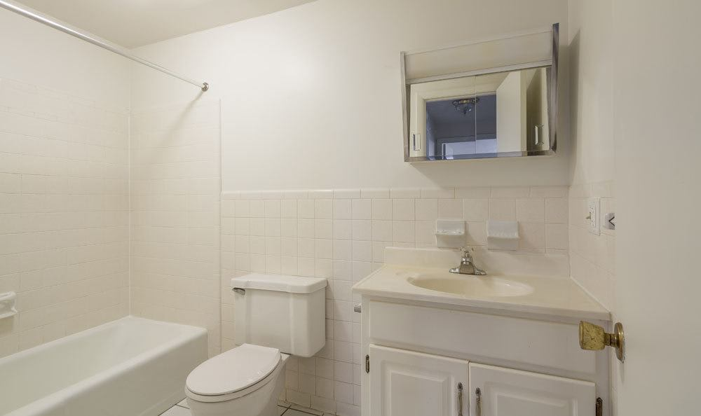 Example bathroom at apartments in Fairport