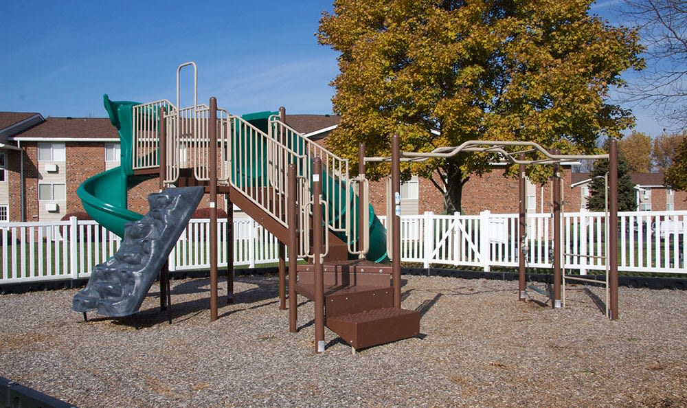 A children's playground is onsite for your enjoyment at Highview Manor Apartments