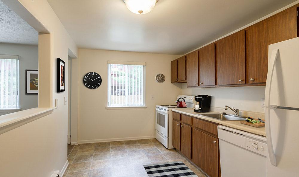 Nice clean kitchen in our Fairport, NY apartments