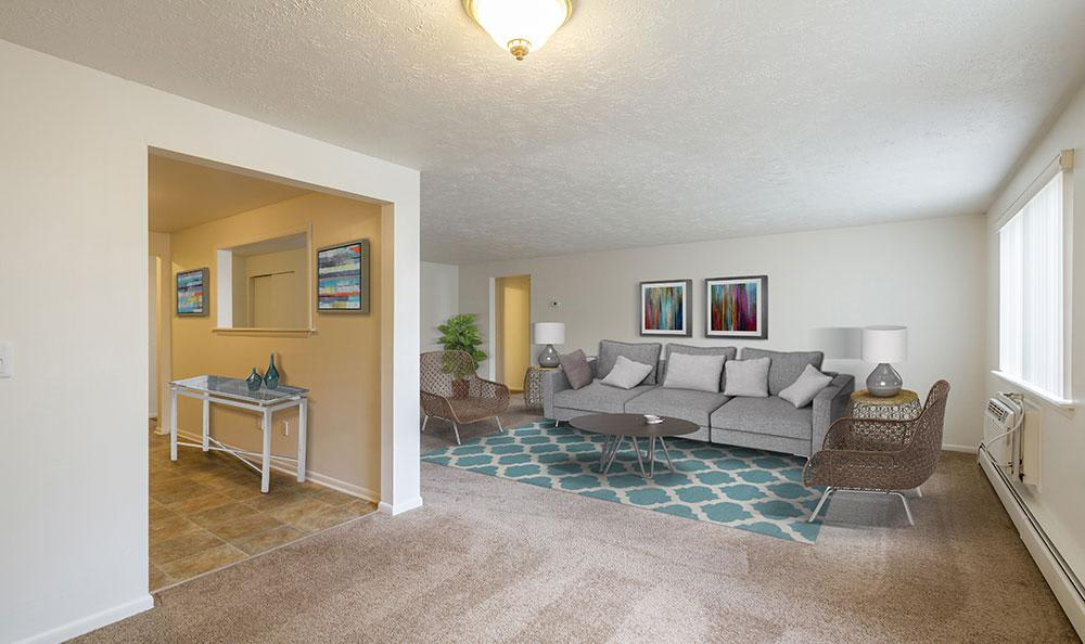 Living Room at Highview Manor Apartments