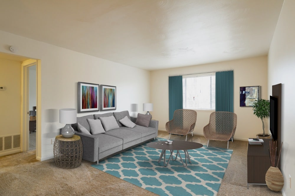 Living Room at Imperial North Apartments in Rochester