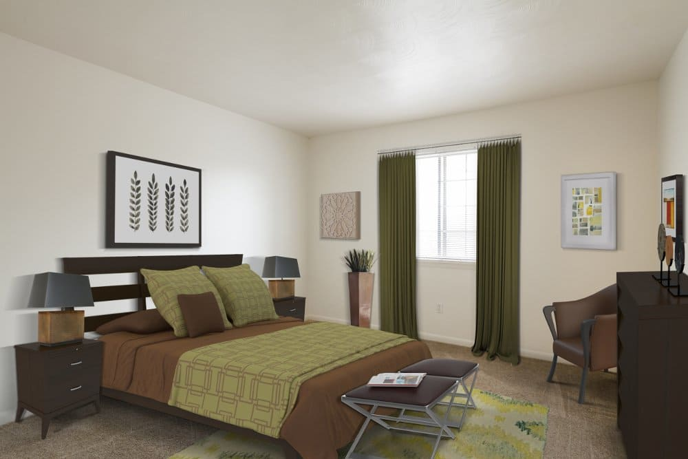 Bedroom at Imperial North Apartments in Rochester