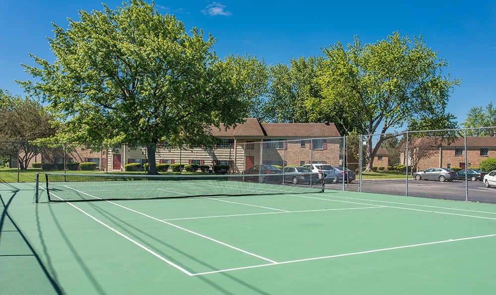 A tennis court is onsite for your enjoyment at Imperial North Apartments