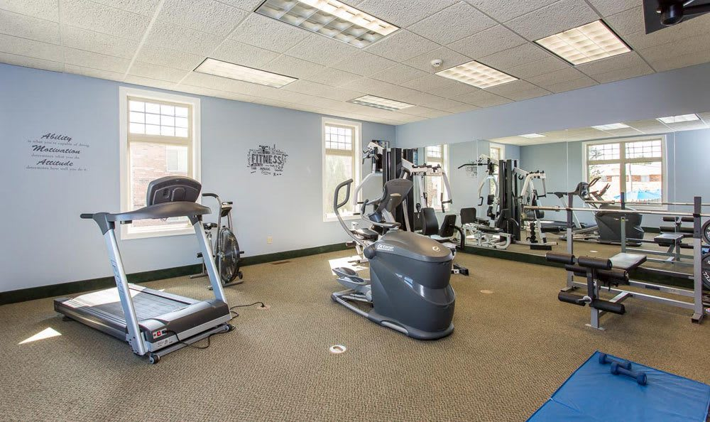 Fitness equipment at Knollwood Manor Apartments