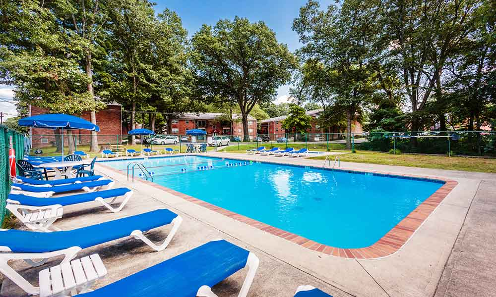 Pool at apartments in Kingston