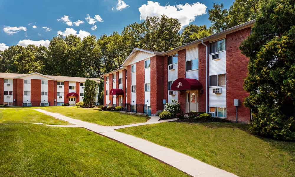 Sunset Garden Apartments exterior building in Kingston, NY