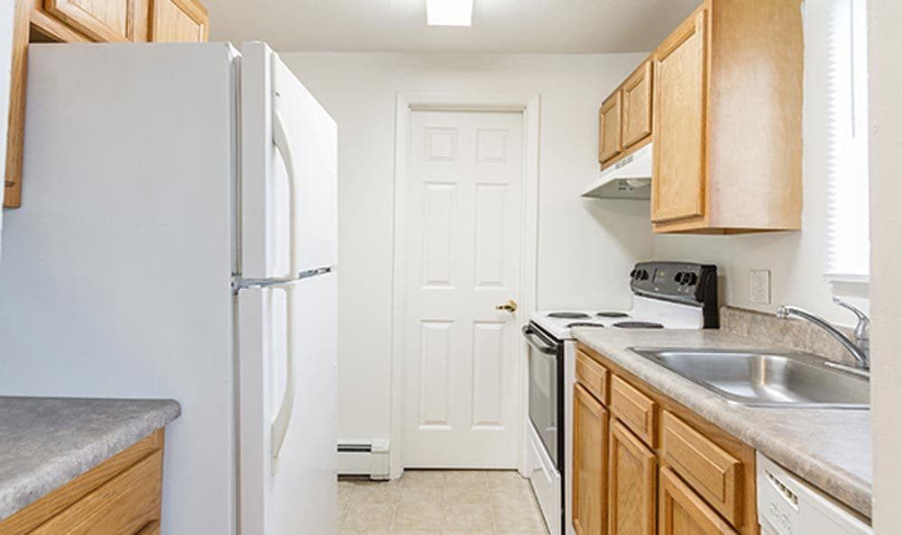 Nice clean kitchen in our Brockport, NY apartments