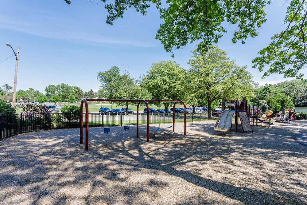 A children's play area is onsite for your enjoyment at Green Lake Apartments