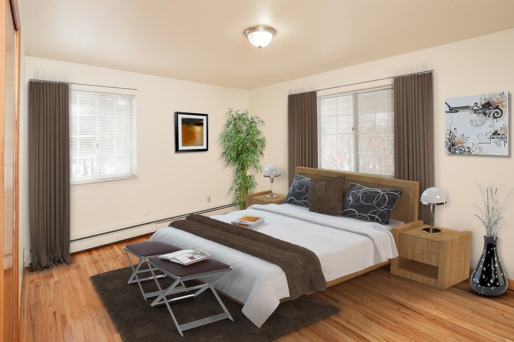 furnished bedroom in Orchard Park, NY