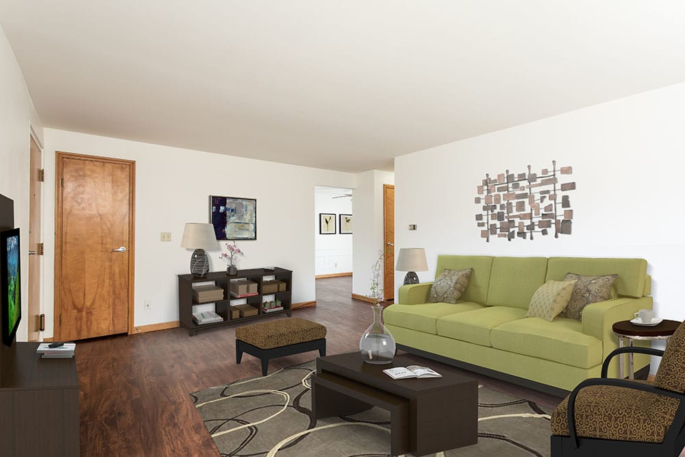 Nice hardwood floors in our Orchard Park, NY apartments