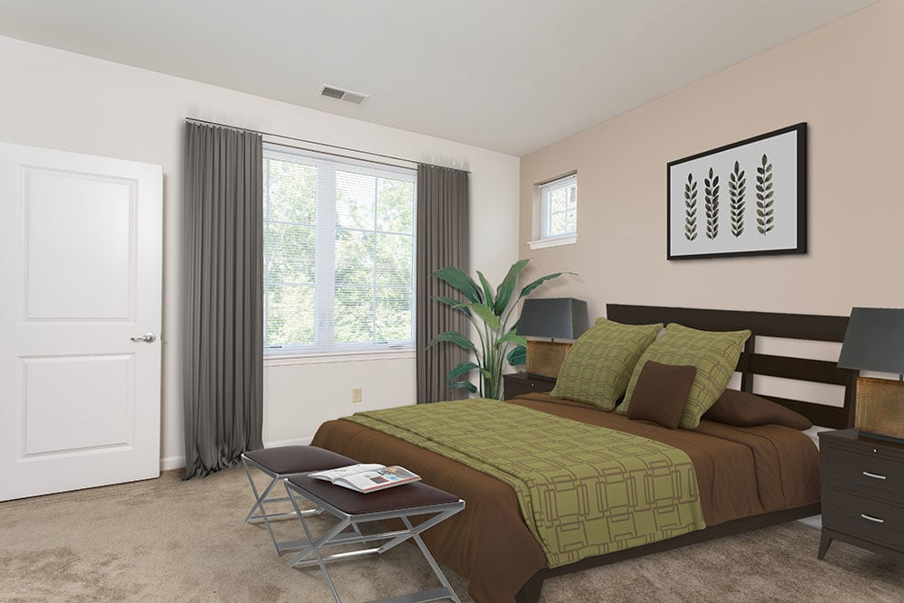 Comfortable bedroom in our Orchard Park, NY apartments