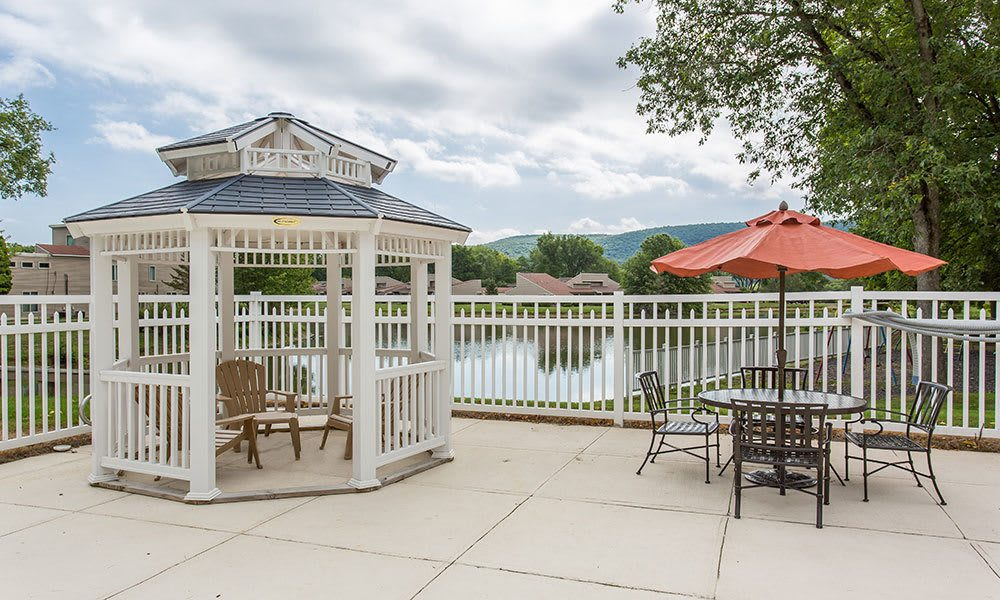 Gazebo at apartments in Painted Post