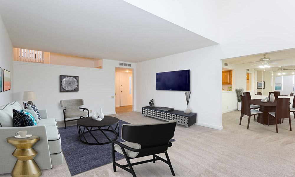 Large spacious living room in Painted Post, NY