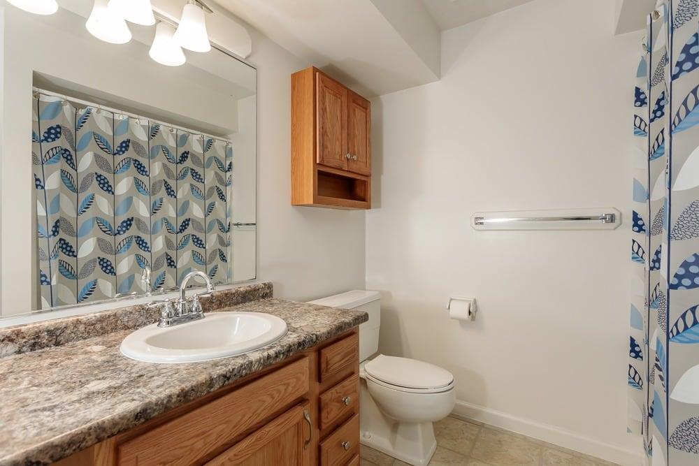 Example bathroom at apartments in Camillus, NY