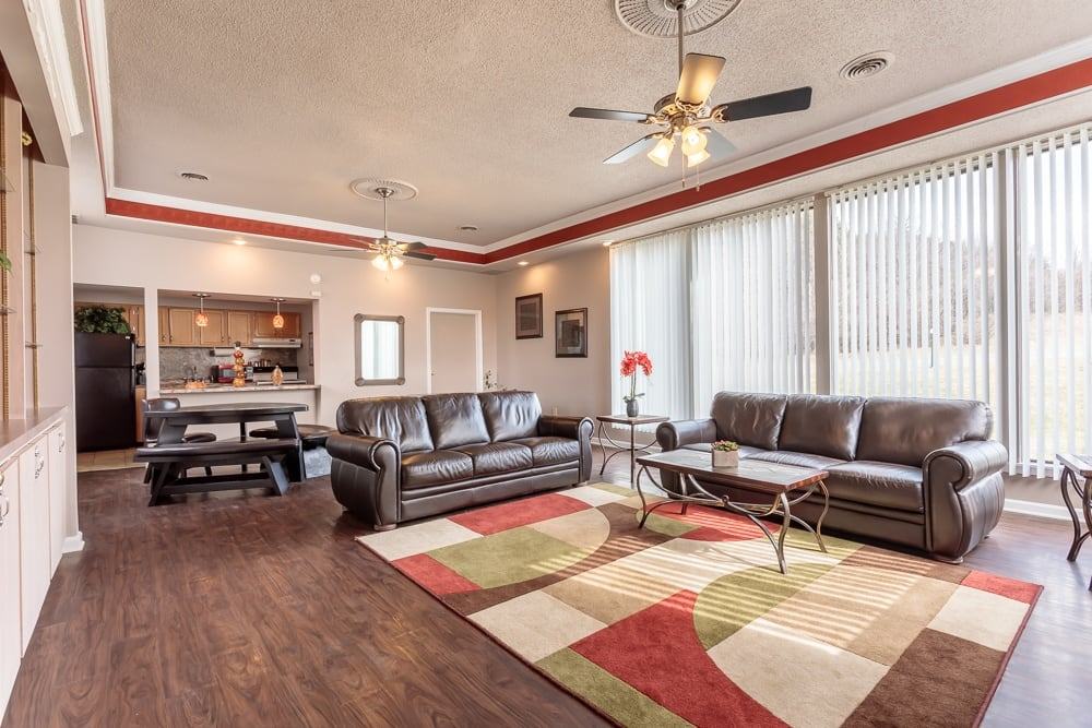 Community center at Steeplechase Apartments in Camillus, NY