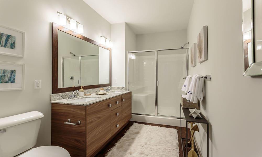 Example bathroom at apartments in Malta