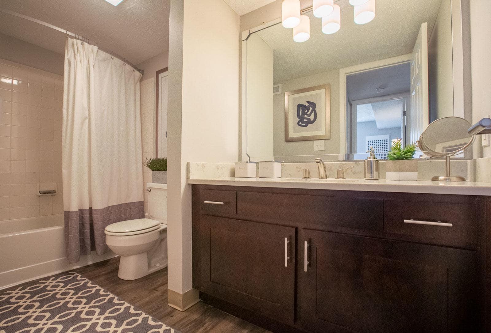 Example bathroom at apartments in Westlake