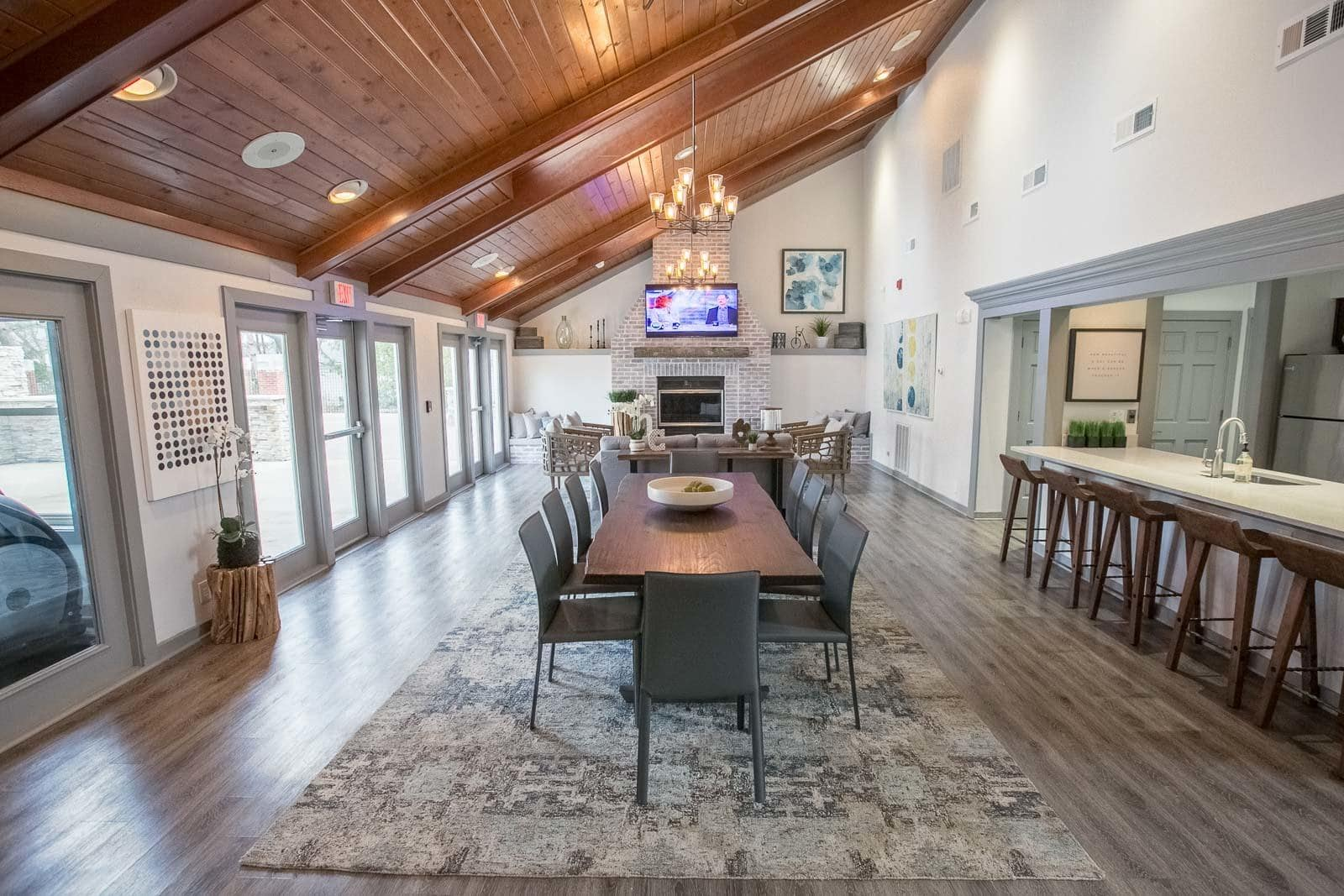 Westlake apartments includes an entertainment space
