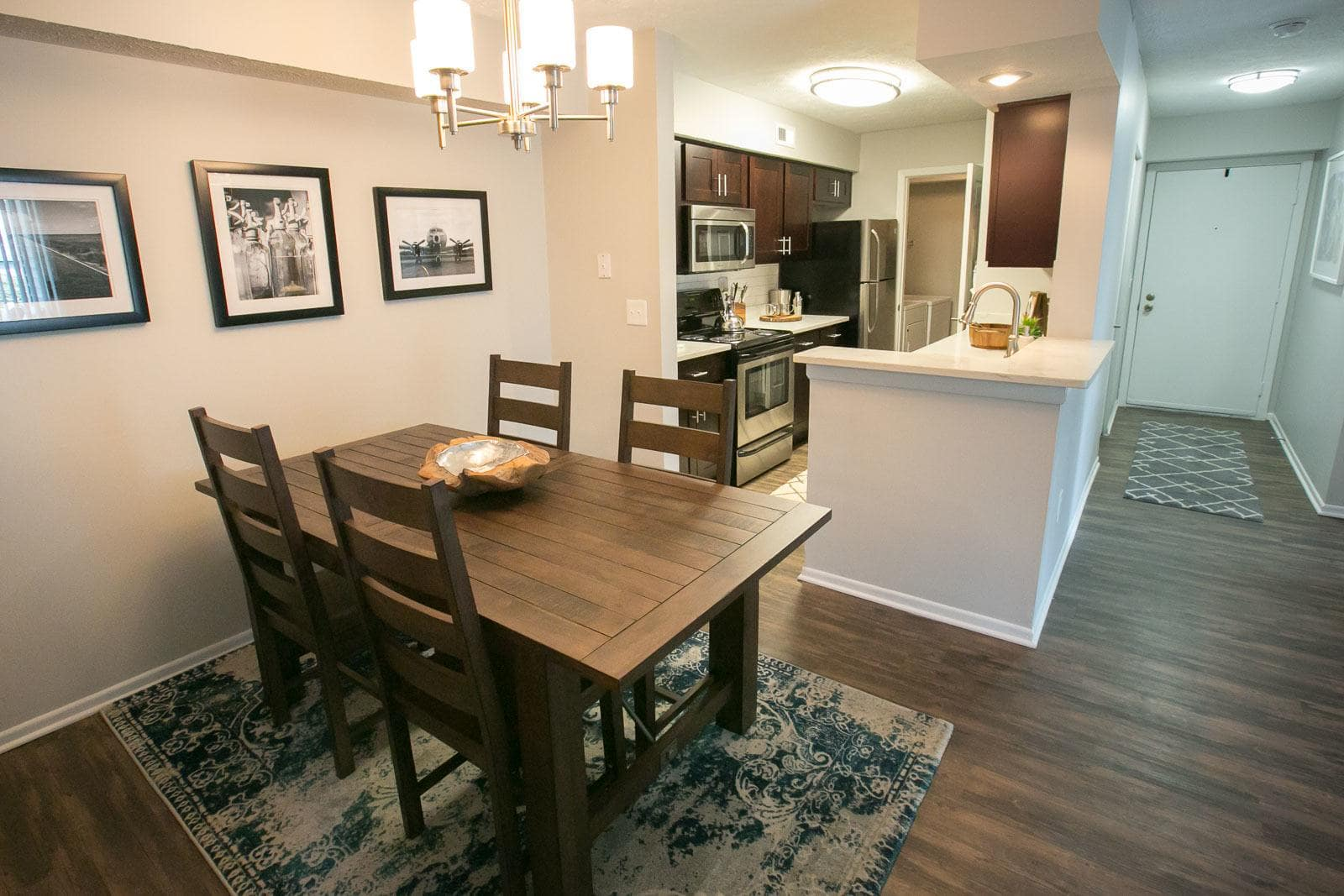 Bright dining room at apartments in Westlake, OH
