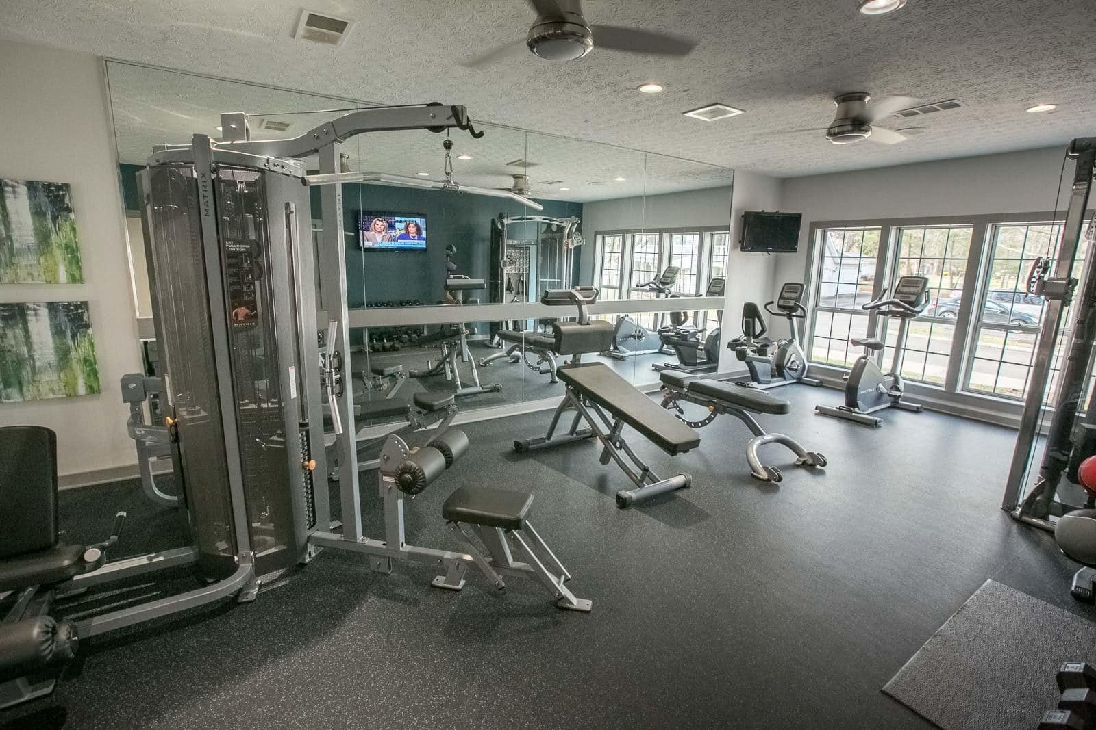 Fitness center at our apartments in Westlake