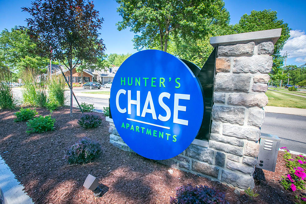 Beautiful dog park at Hunter's Chase Apartments in Westlake, OH