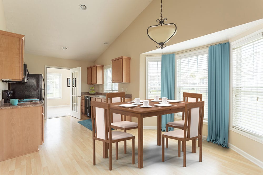 Bright and Open dining room at Spencerport apartments