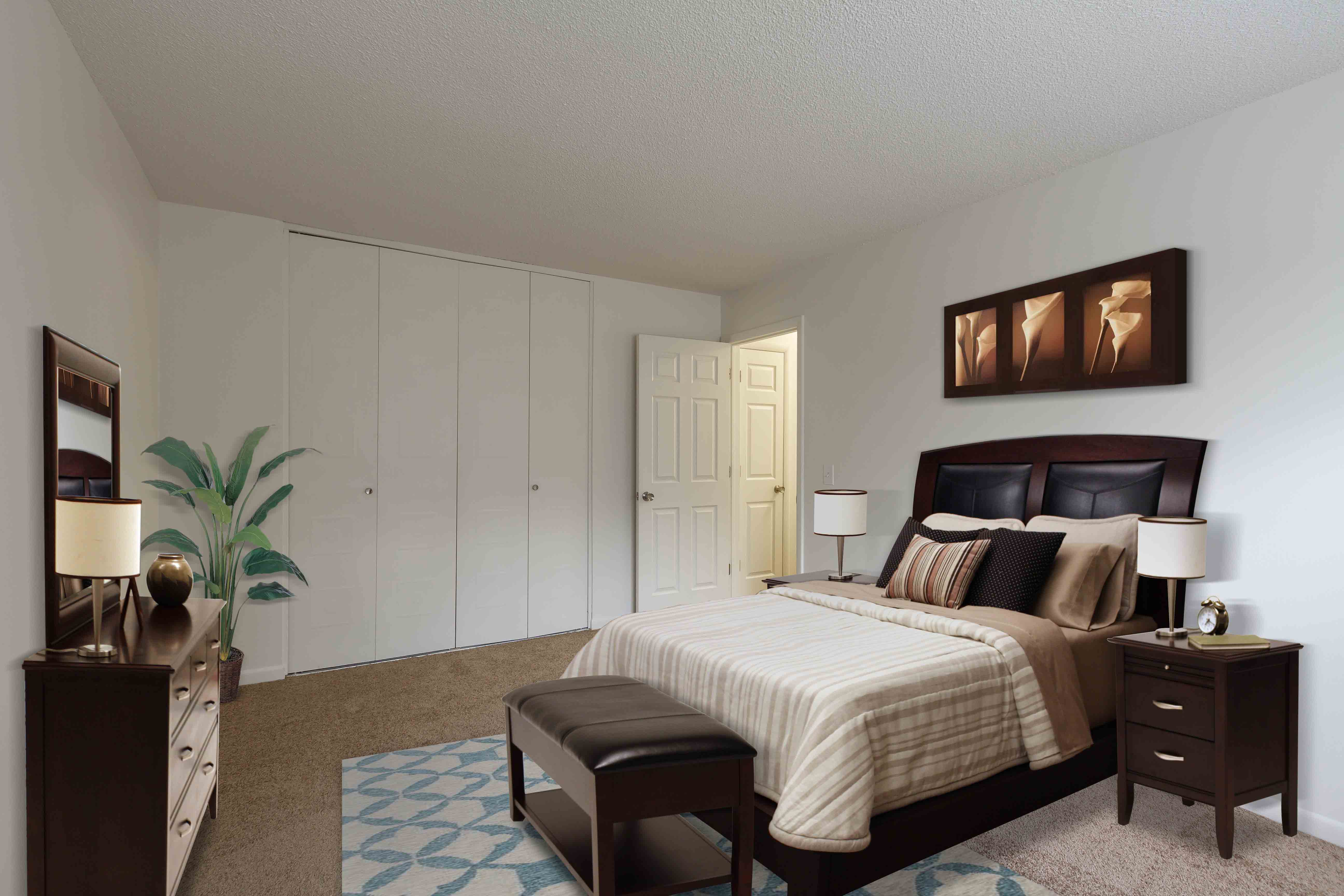 Large bedroom at apartments in Penfield, NY