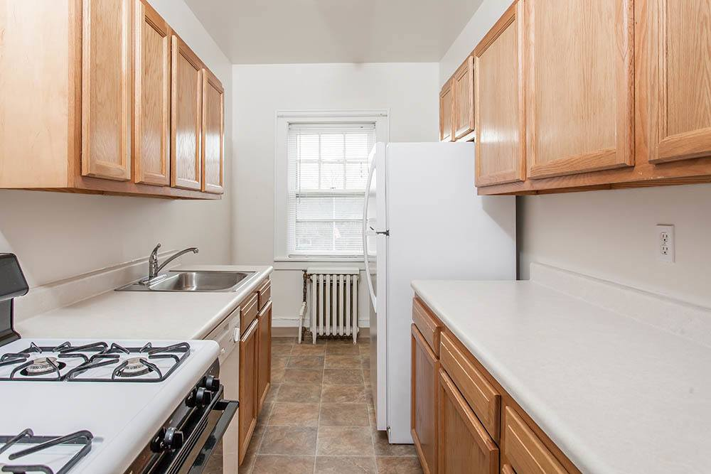 Galley Kitchen in available apartments Rochester NY