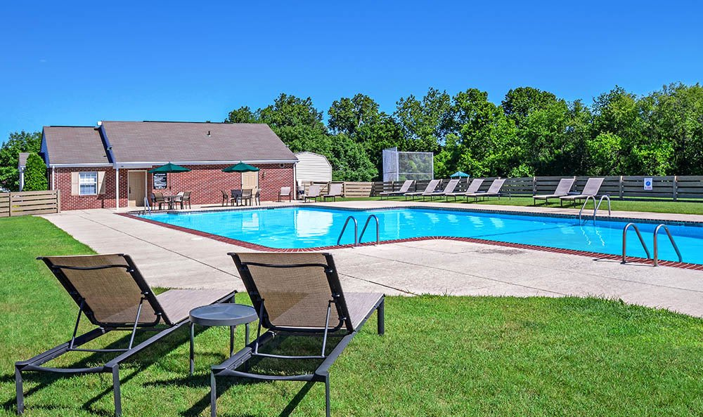 The swimming pool at apartments in York PA