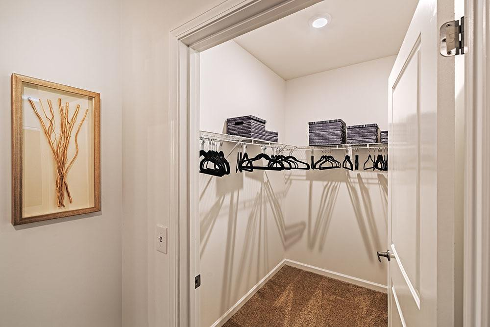 Walk in closet at The Kane at Gray's Landing in Aliquippa, PA