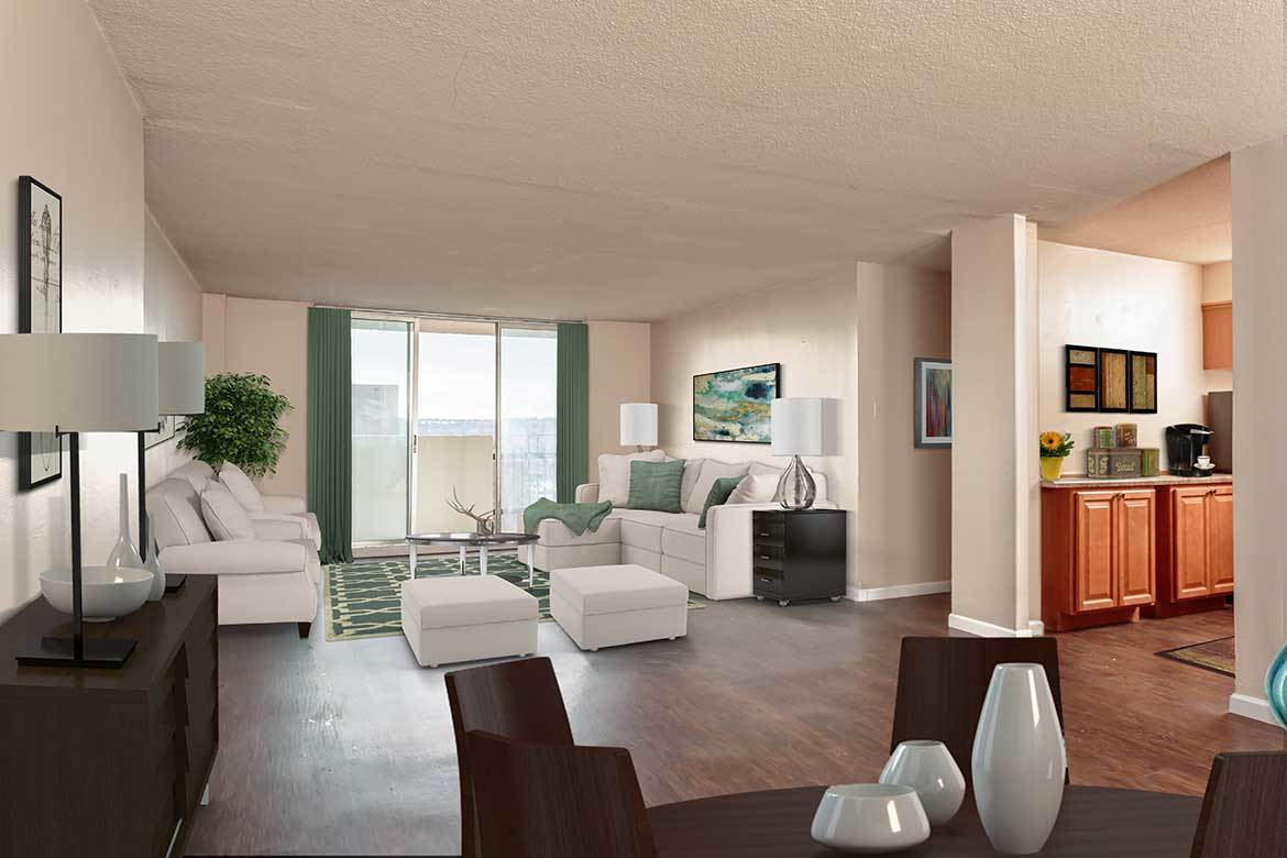 Admire the elegance of our affordable apartments at Towers on the Hudson in Troy NY