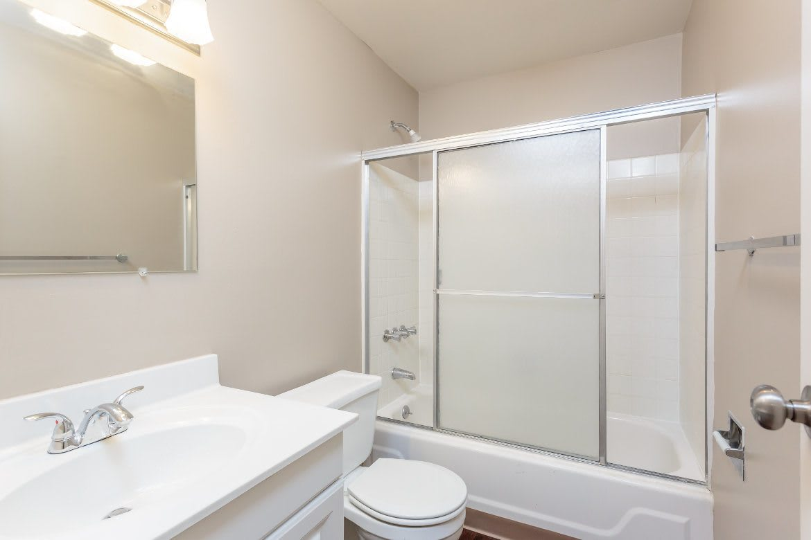 The Residences at Covered Bridge has amazing bathrooms in Liverpool NY