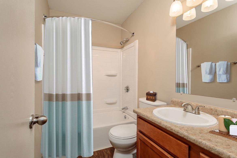 Example bathroom at apartments in Manlius