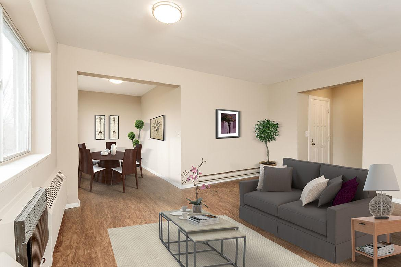 Model Living Room at Manlius Academy in Manlius