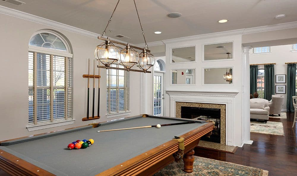 A billiards table is onsite for your enjoyment at Atkins Circle Apartments