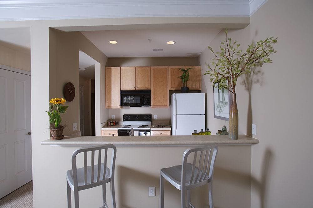 Breakfast bar at apartments to rent in Charlotte NC