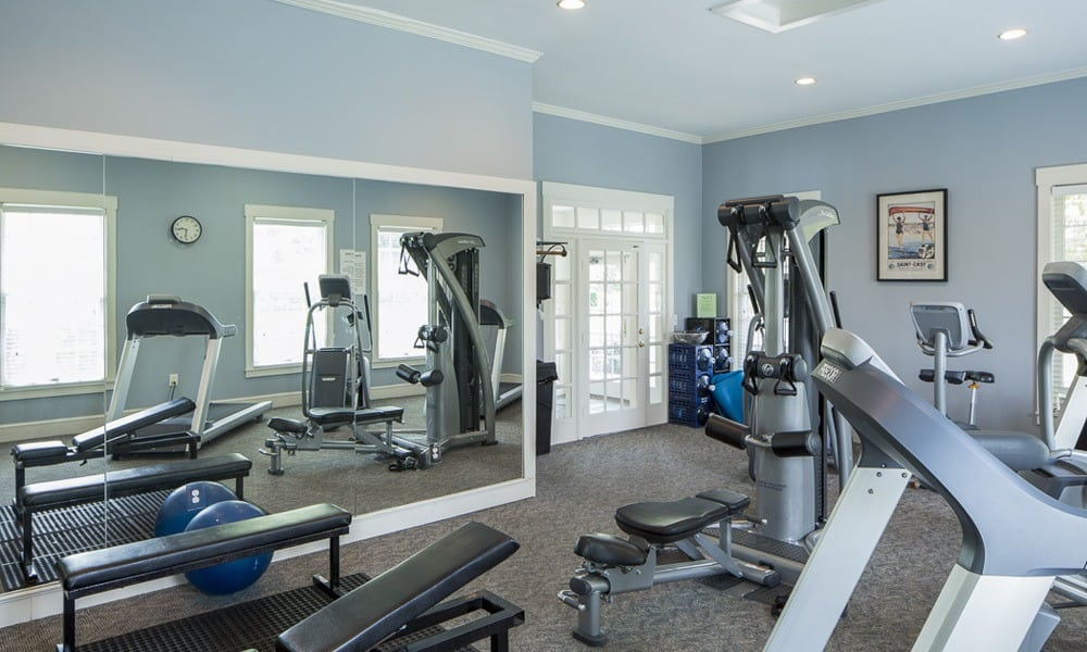 Fitness center at our West Chester, OH apartments