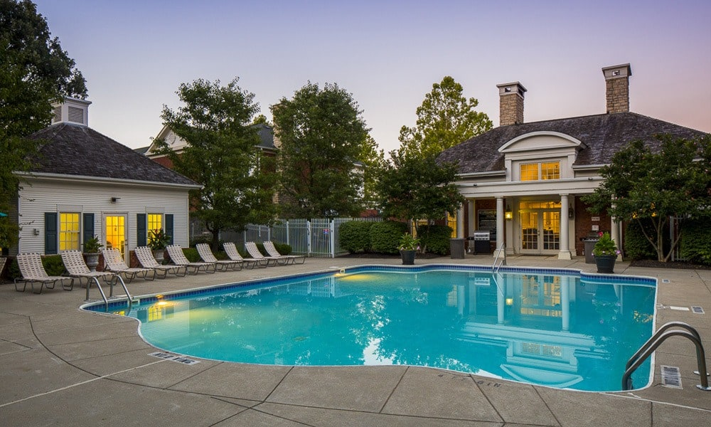 Beautiful pool amenities at our apartments in Westerville, OH