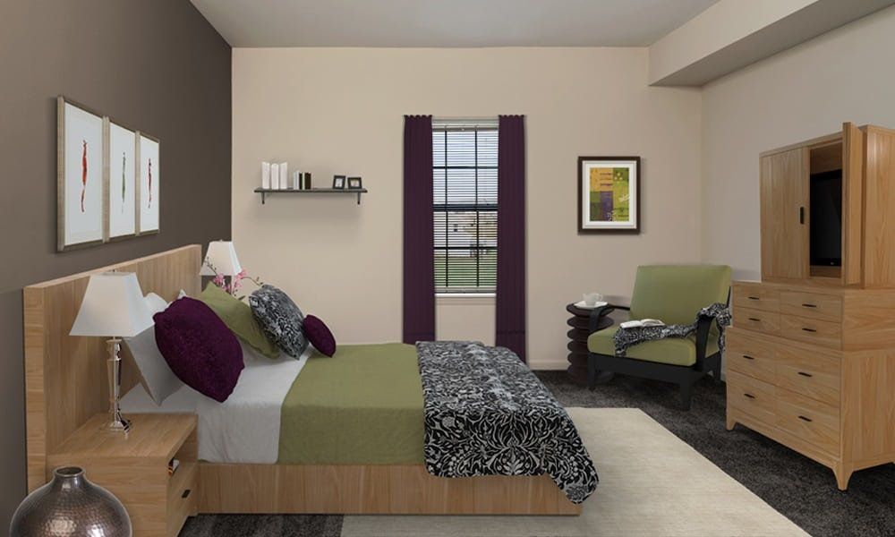 example bedroom  in Cranberry Township, PA