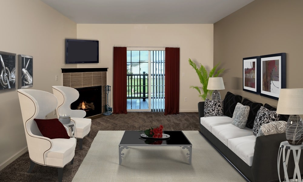 updated living room  in Cranberry Township, PA