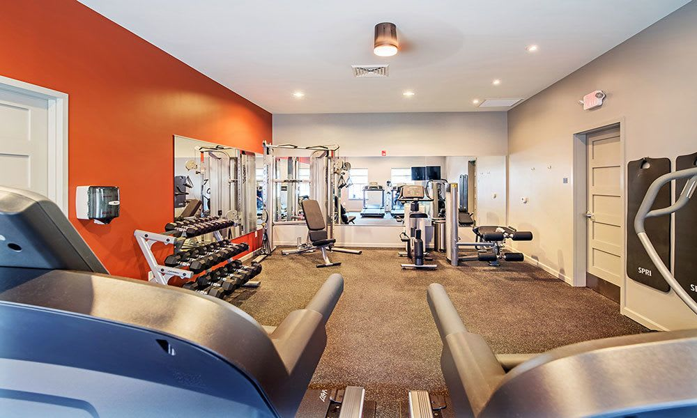 fitness center at Eden Square Apartments