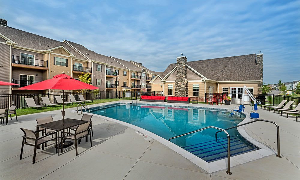 swimming pool at Eden Square Apartments