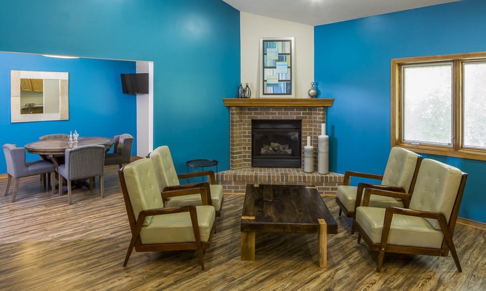 Spacious sitting area in our clubhouse at the The Summit in Fort Wayne, IN