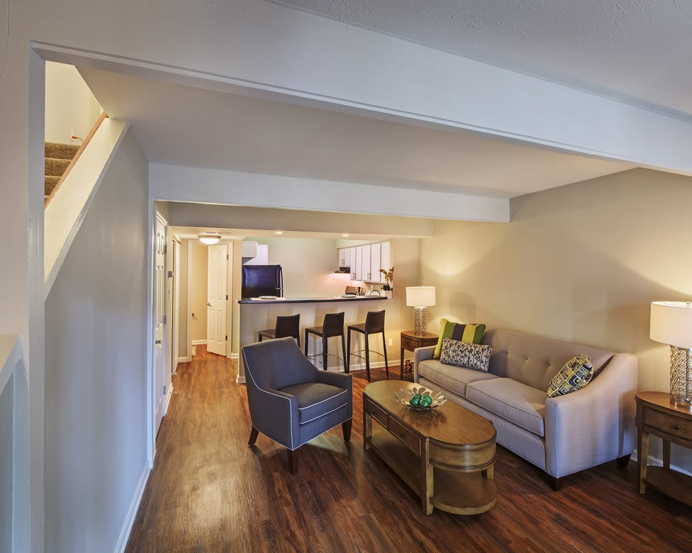 Nice hardwood floors in our Pittsburgh, PA apartments